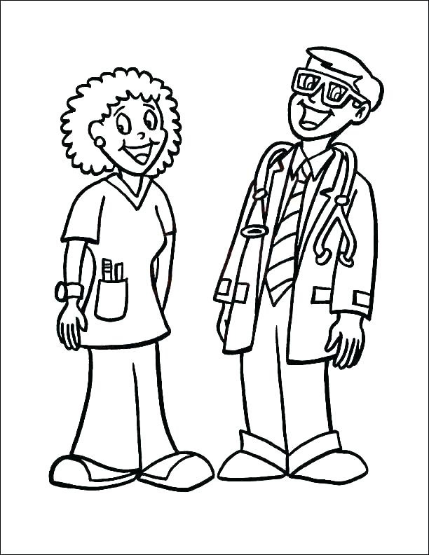 Doctor And Nurse Coloring Page Free Printable Coloring Pages For Kids