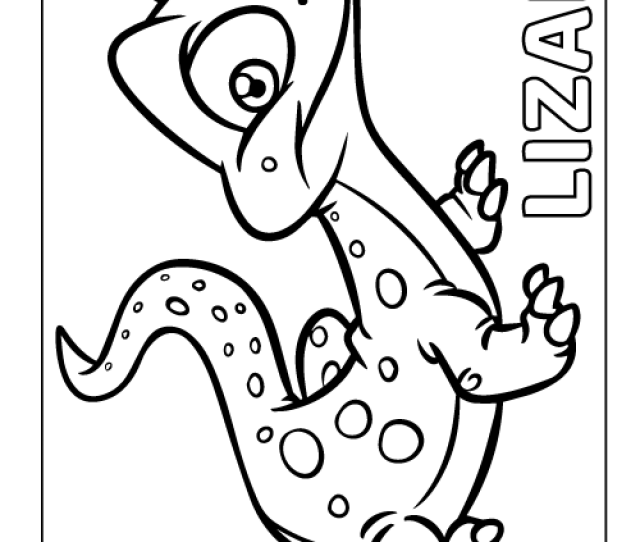 Printable Lizard Coloring Page Pdf For Kids