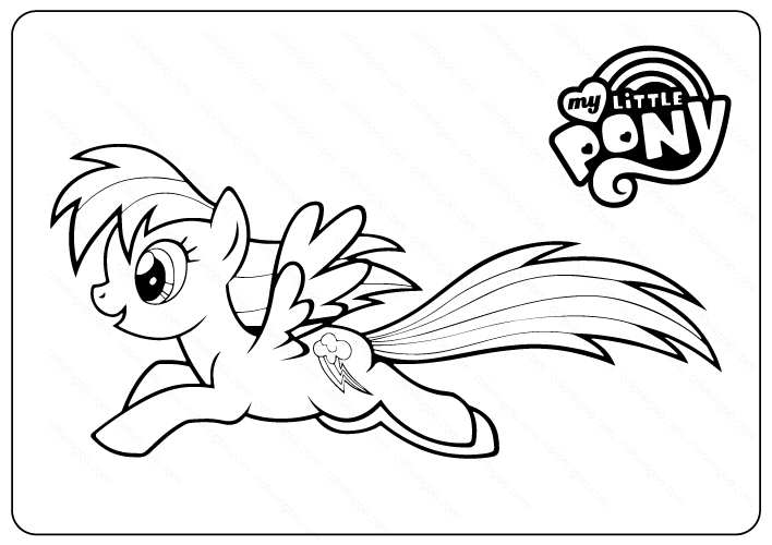 Printable My Little Pony Coloring Pages Book Pdf