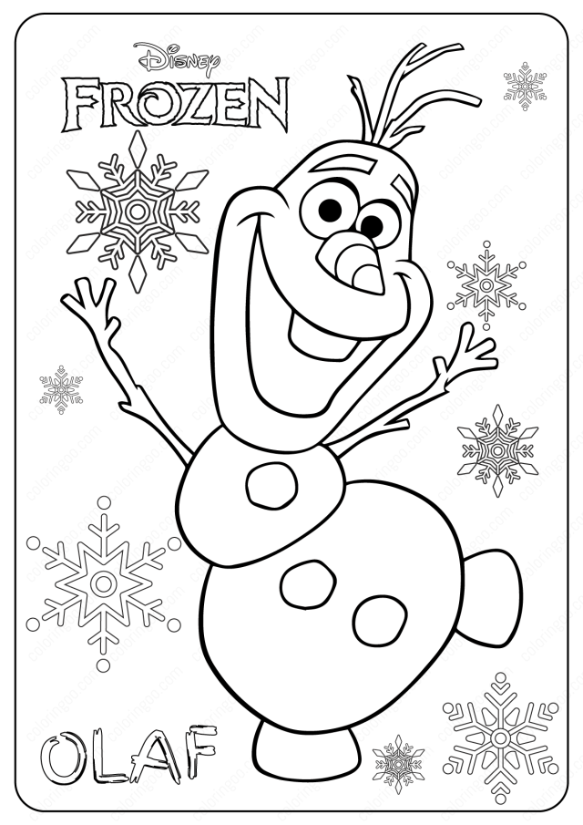 Free Printable Frozen Olaf Coloring Pages