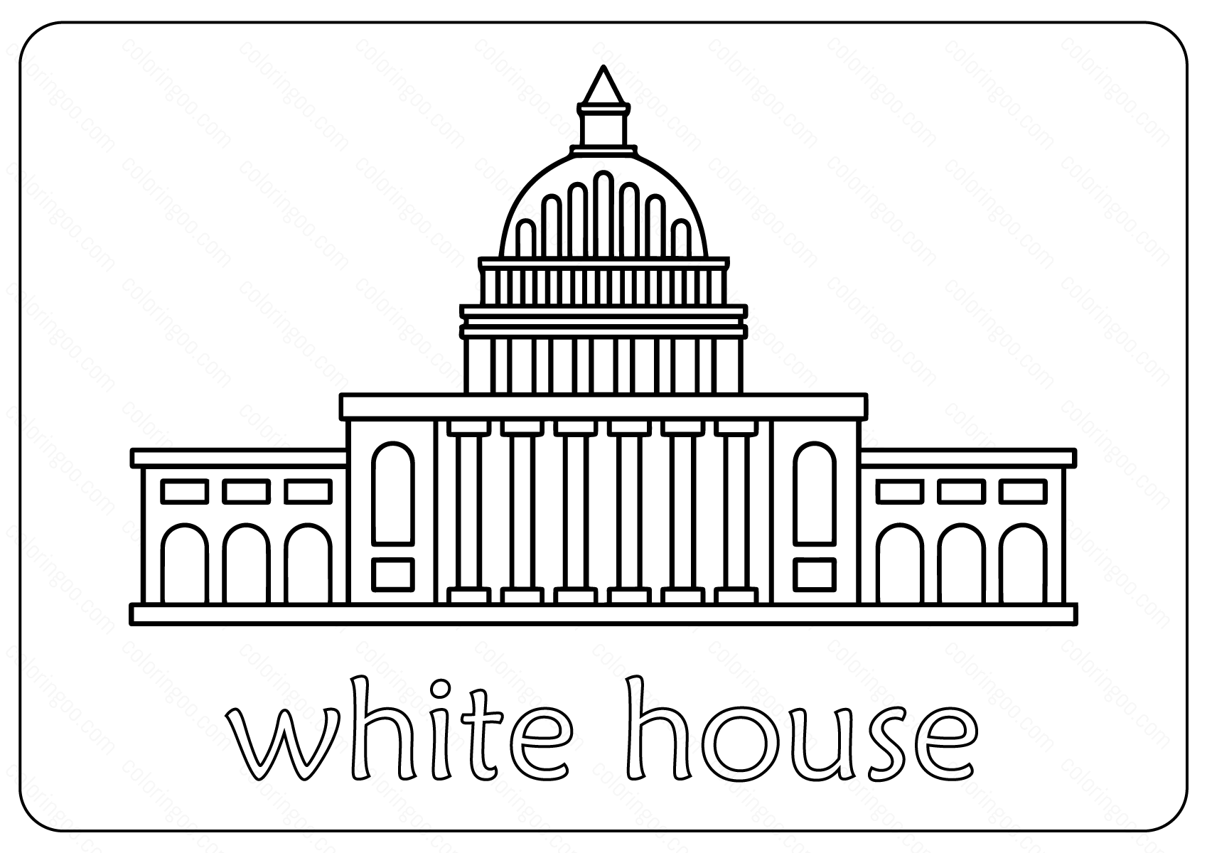 Free Printable White House Coloring Pages Amp Vector