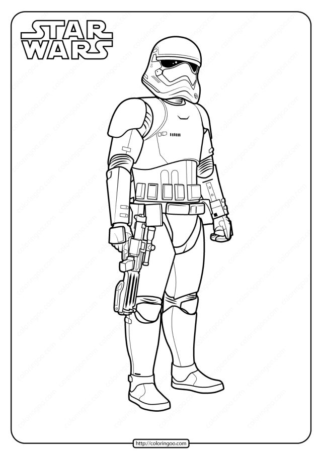Printable Star Wars Stormtrooper Coloring Pages