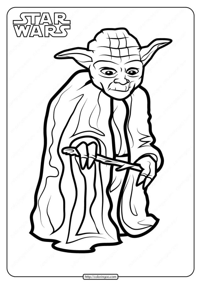 Printable Star Wars Yoda Coloring Pages Book