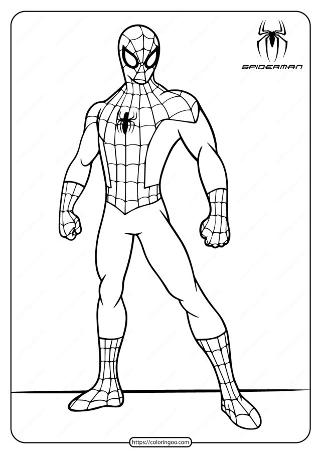 Printable Marvel Spiderman Coloring Pages