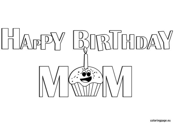happy birthday mom coloring pages # 10