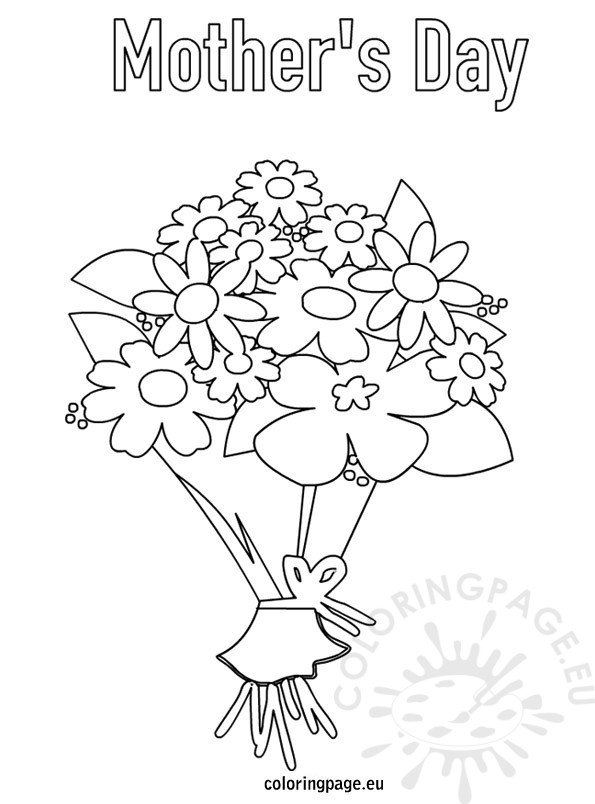 Roses Flower Bouquet Coloring Pages Coloring Pages