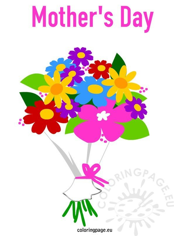 Mother's Day - Bouquet flowers   Coloring Page