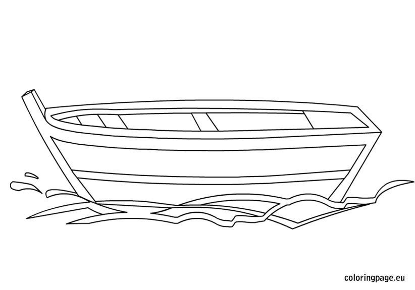 small boat coloring page – coloring page