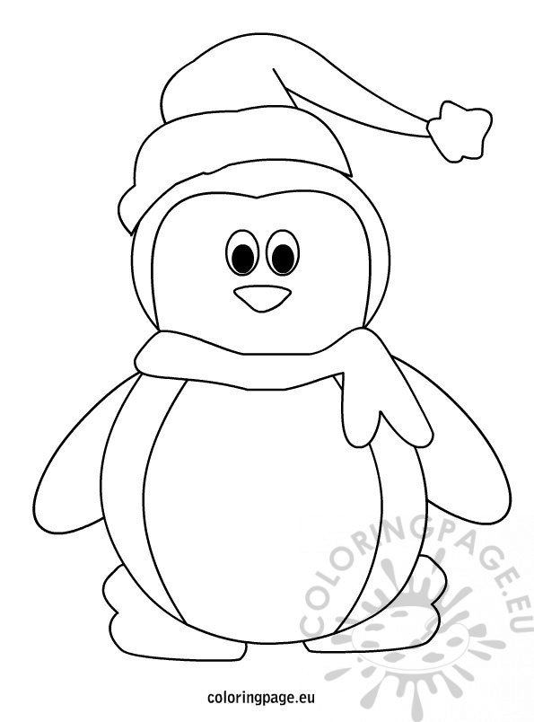Snowman Coloring Template