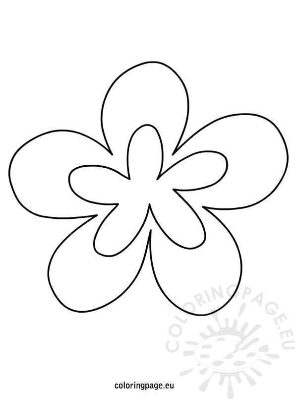 Printable Flower Shapes Coloring Page