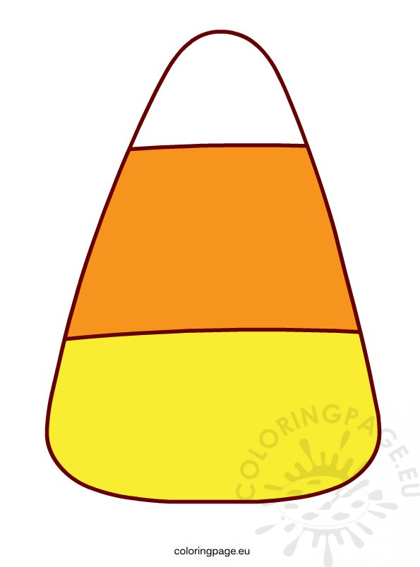 halloween candy corn – coloring page