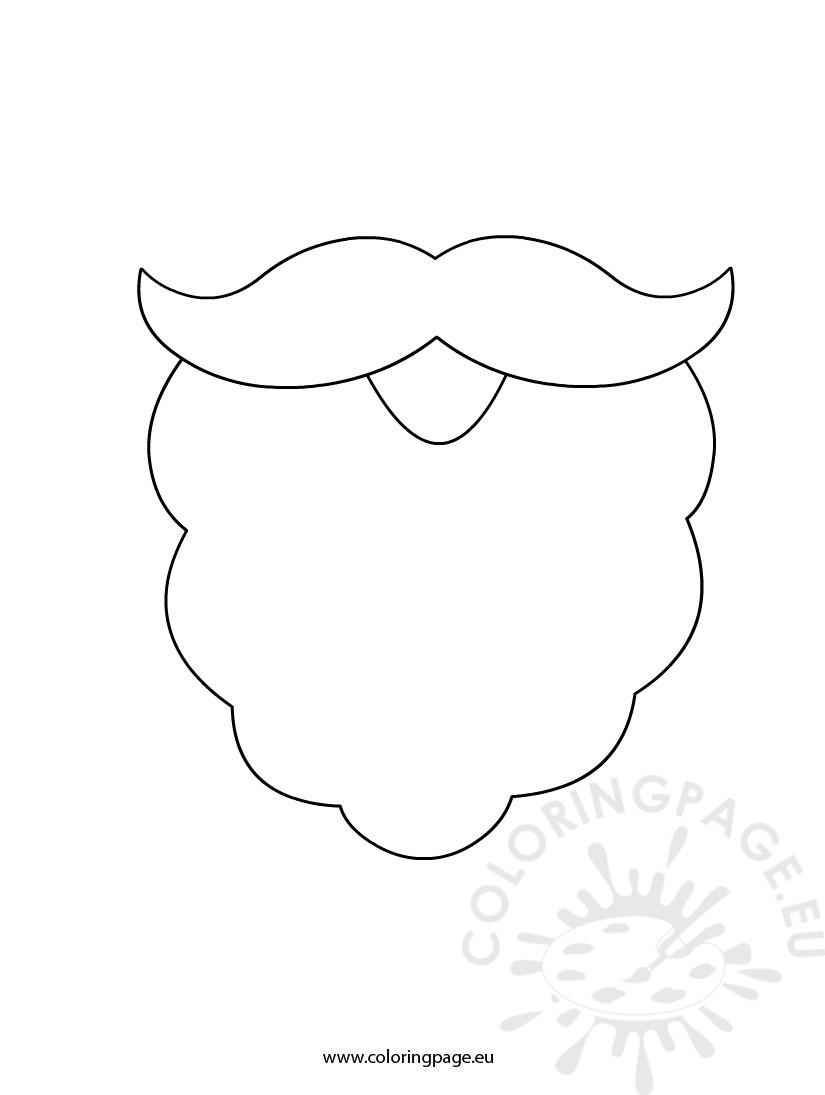 Santa Beard Template Coloring Page