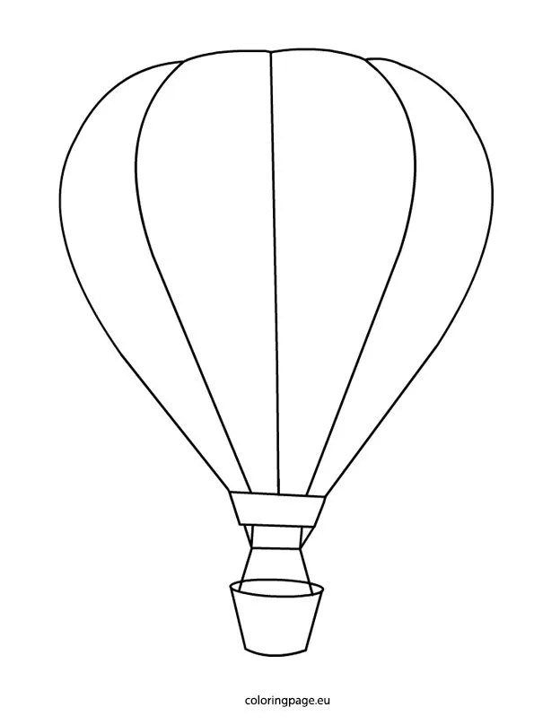 Hot-air balloon coloring page – Coloring Page