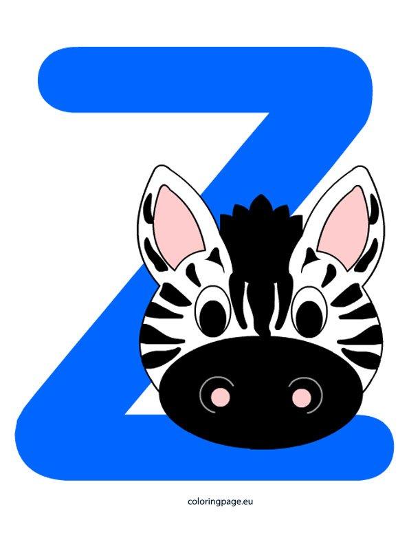 Alphabet Letter Z Coloring Page