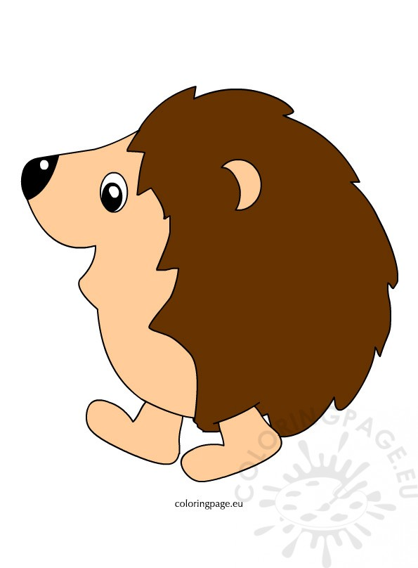 Free Hedgehog Clipart Pictures Coloring Page