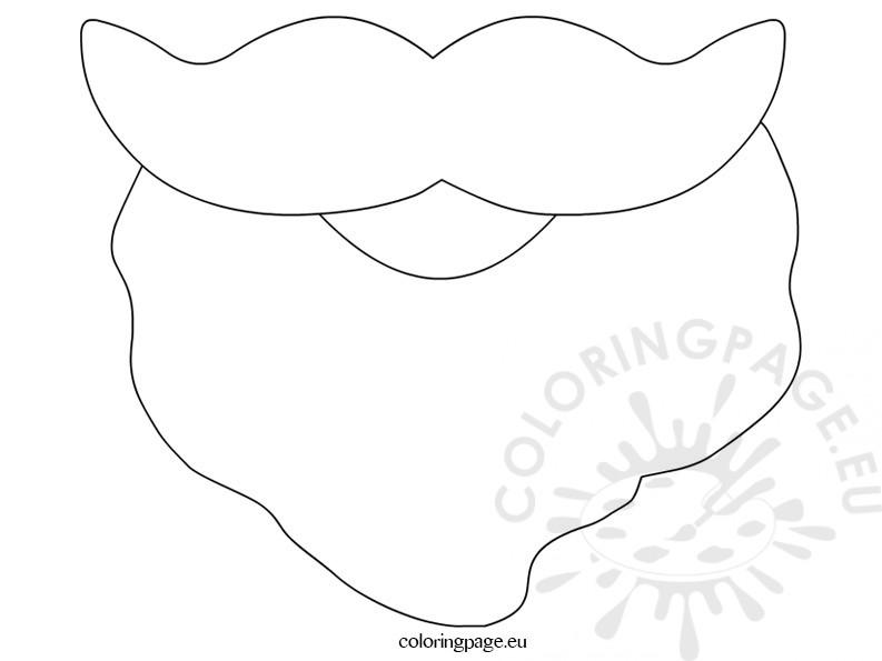 Santa beard coloring page for Santa beard coloring page
