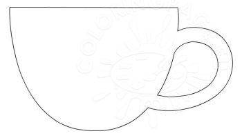 Tea cup | Coloring Page