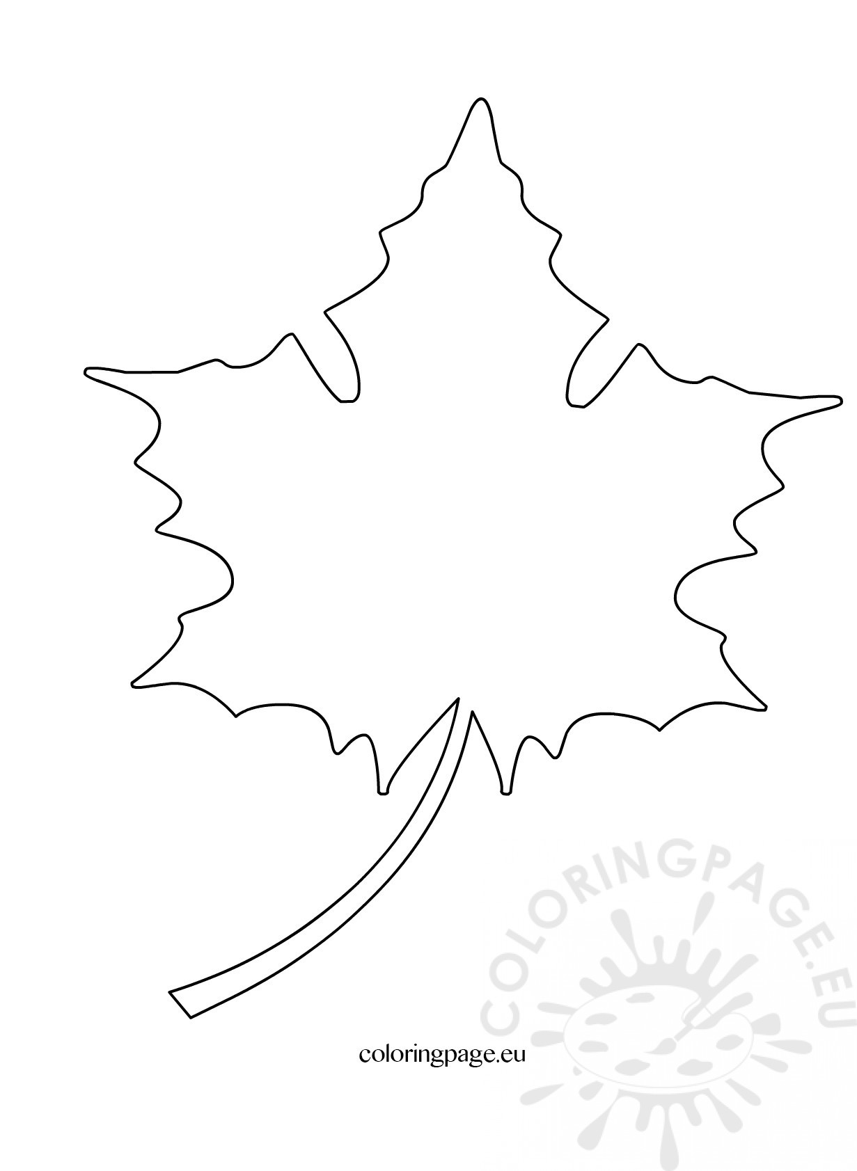 Maple Leaf Cut Out Pattern Coloring Page
