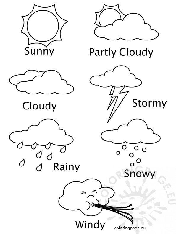 Weather Coloring Sheets Printables – Coloring Page