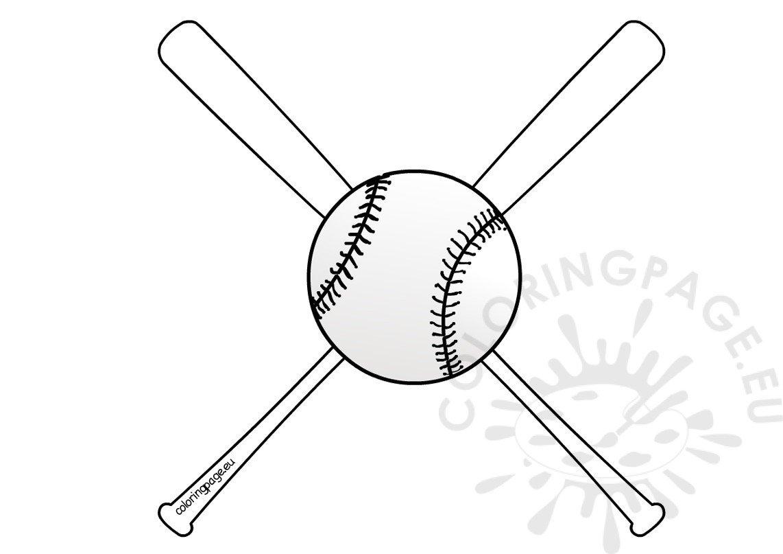 Baseball Bats And Ball Coloring Sheets Coloring Page