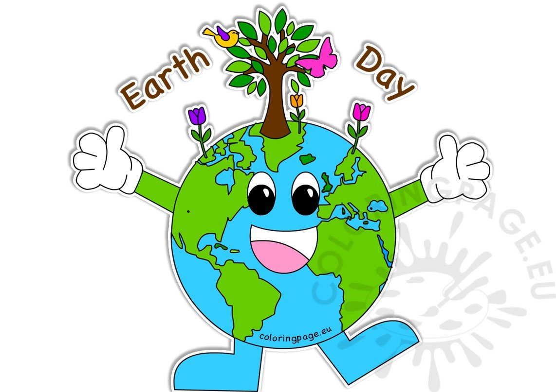 Happy Earth Day Images Coloring Page