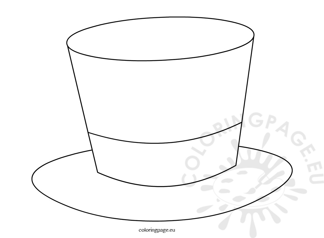 Top Hat Magician Template Coloring Page