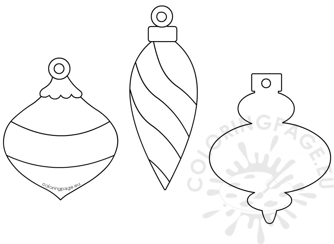 Christmas Bauble Paper Garland Template Coloring Page