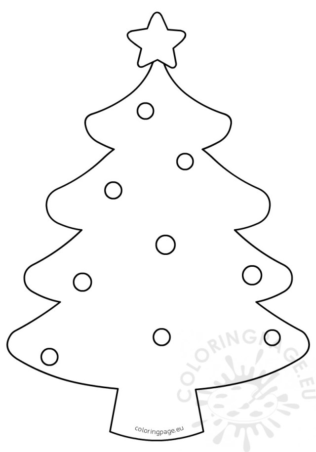 Blank Christmas Tree Coloring Page for kids – Coloring Page