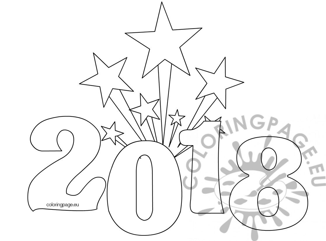 Printable New Years Coloring Page Coloring Page