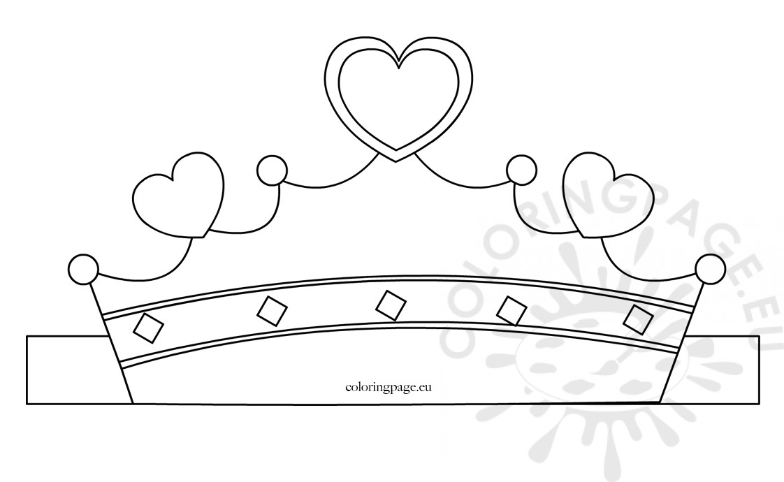 Paper Princess Crown Template Coloring Page