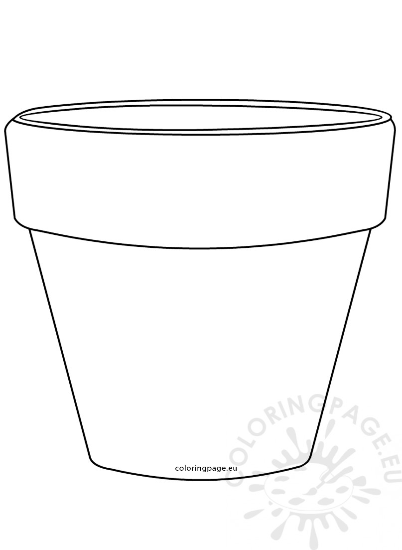 photograph about Printable Flower Pot named Printable Flower Pot Designs Coloring Site