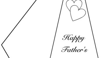 father s day writing paper template coloring page