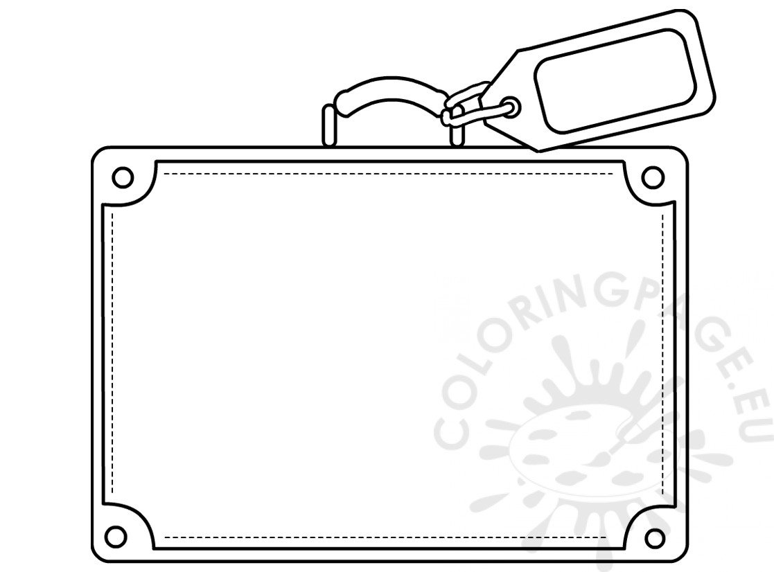 Suitcase Template Coloring Sheets Coloring Page