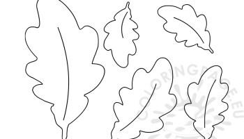 Oak Leaves Coloring Pages Printable | Leaf coloring page, Fall coloring  pages, Coloring pages