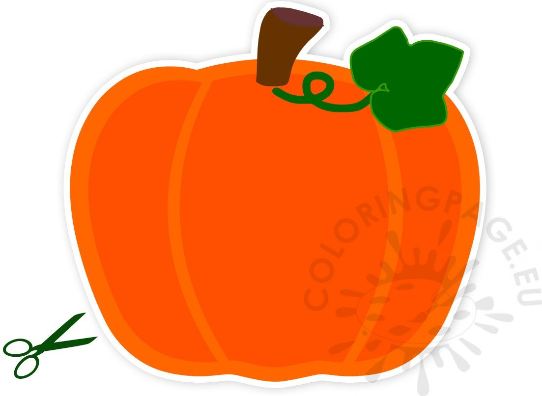 Large Pumpkin Shaped Paper Cut Out Coloring Page