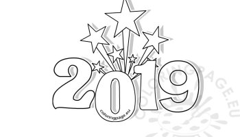 Printable New Years Coloring Page 2018 Coloring Page