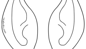 elf ear template coloring page
