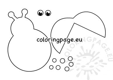 photo about Ladybug Template Printable titled Ladybug template reduce outs Coloring Web page