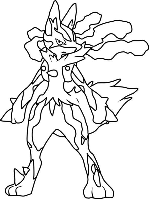 pokemon coloring pages lucario # 49