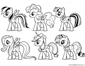 My Little Pony Princess Cadence 02 Coloring Page Coloring Page Central
