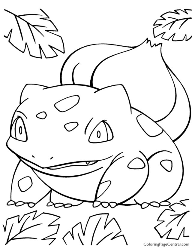 Pokemon - Bulbasaur Coloring Page 19  Coloring Page Central