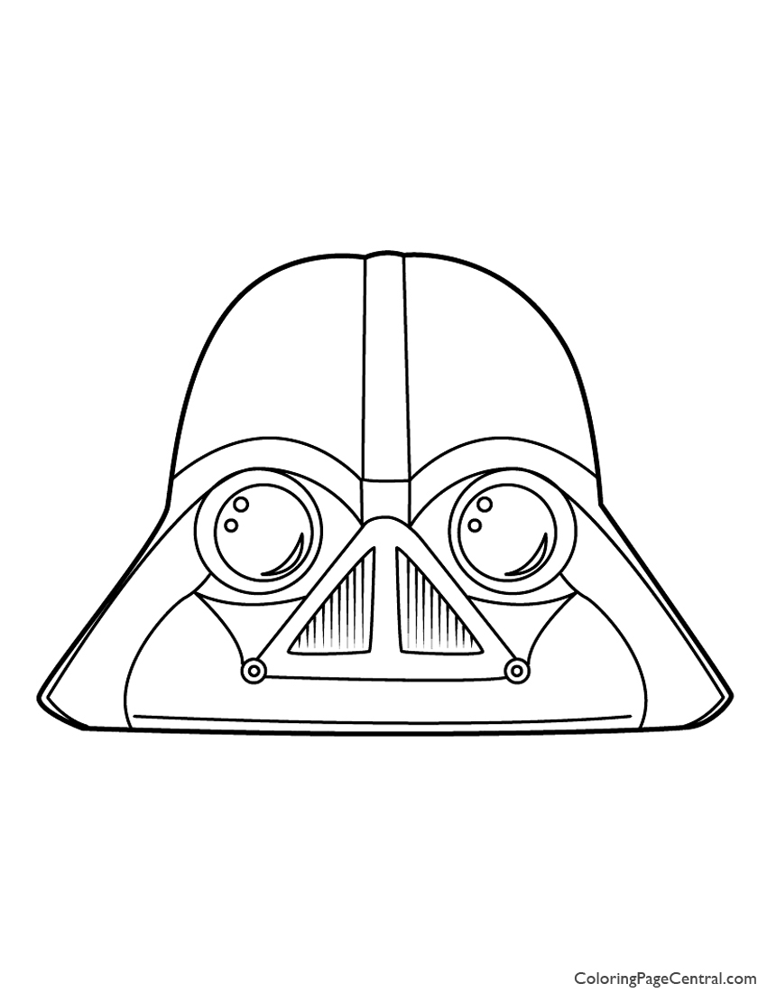 Angry Birds Star Wars Darth Vader 01 Coloring Page