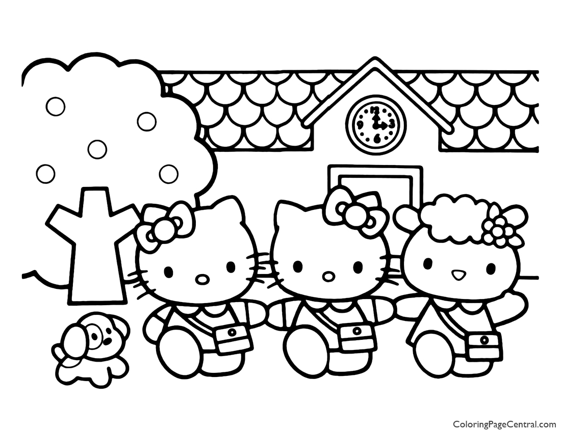 Hello Kitty Coloring Page 03 Coloring Page Central