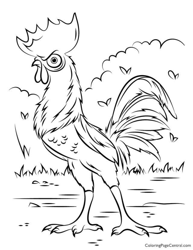 Moana - HeiHei Chicken Coloring Page  Coloring Page Central