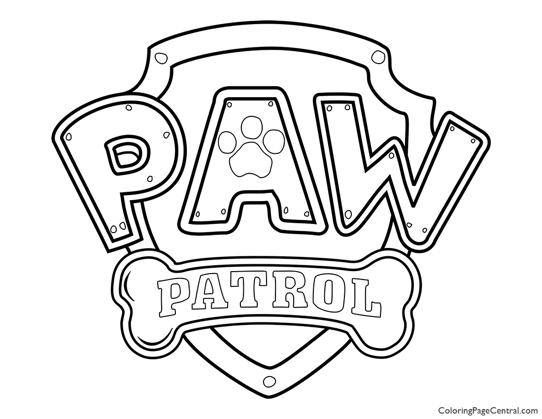 Paw Patrol Coloring Page 01 Coloring Page Central