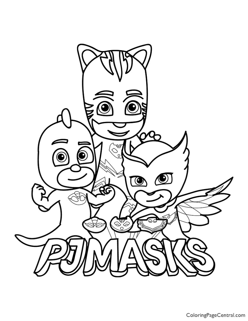 pj masks coloring page 01  coloring page central