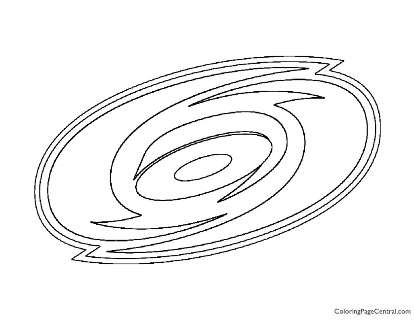 nhl  carolina hurricanes logo coloring page  coloring
