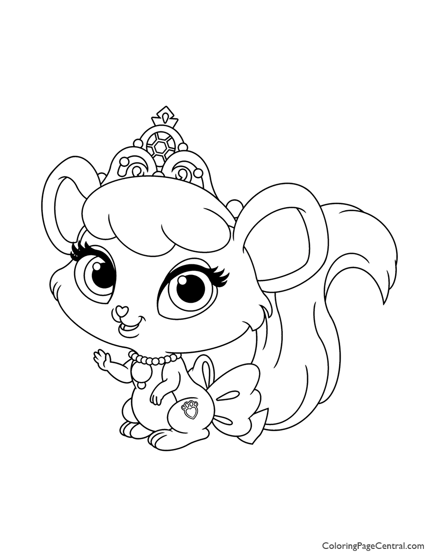 Palace Pets Brie Coloring Page Coloring Page Central