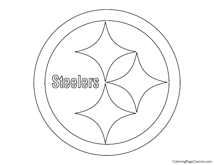nfl pittsburgh steelers coloring page  coloring page central