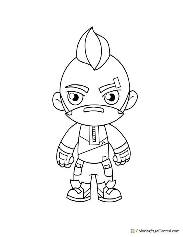 Fortnite - Drift 21 Chibi Coloring Page  Coloring Page Central